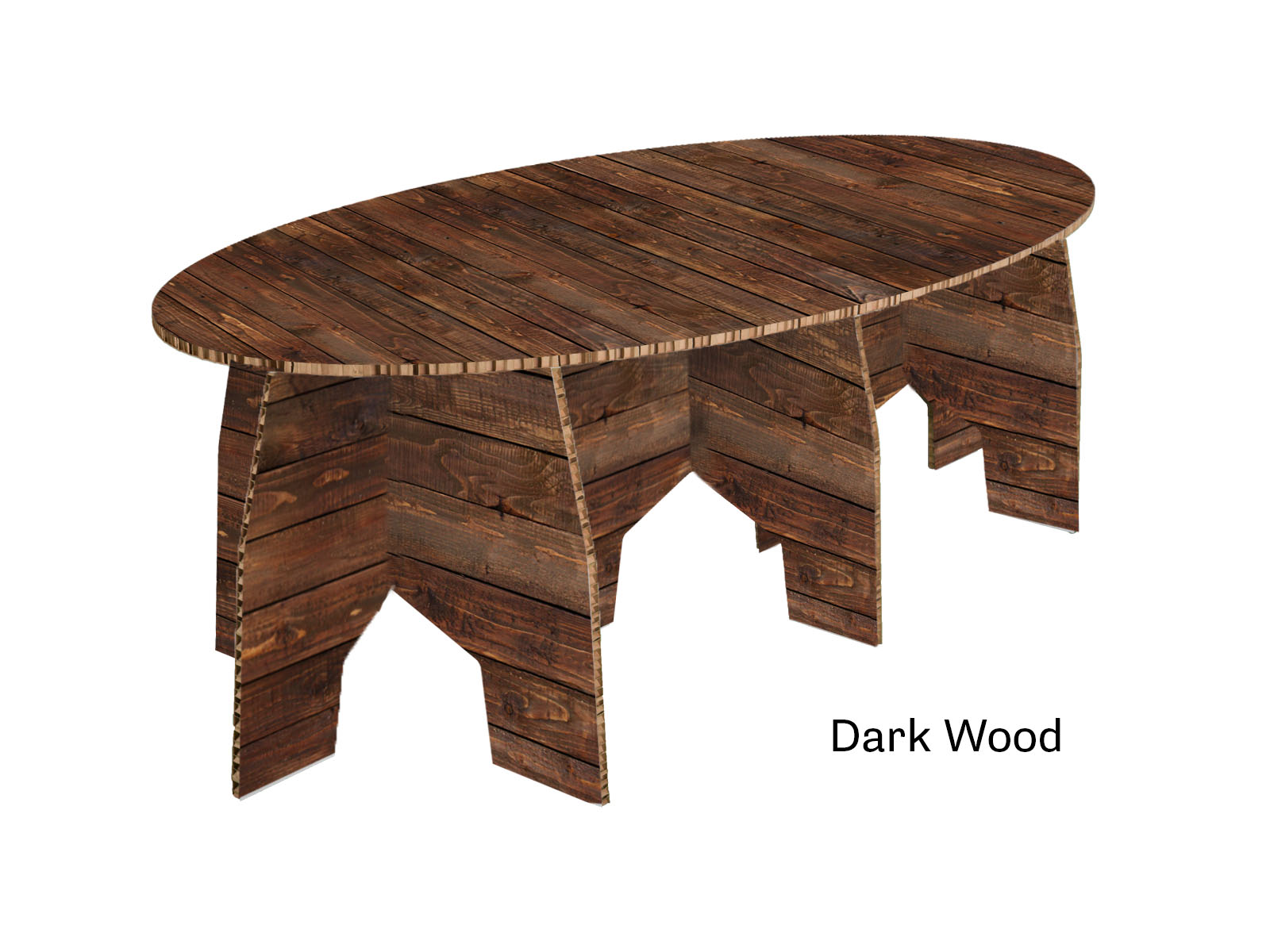 Marcel oval coffee table for Coffee tables dark wood