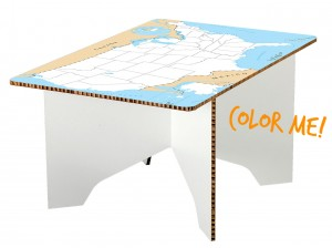 Dry-Erase U.S. Map Table