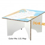 Color Me: U.S. Map Coffee Table